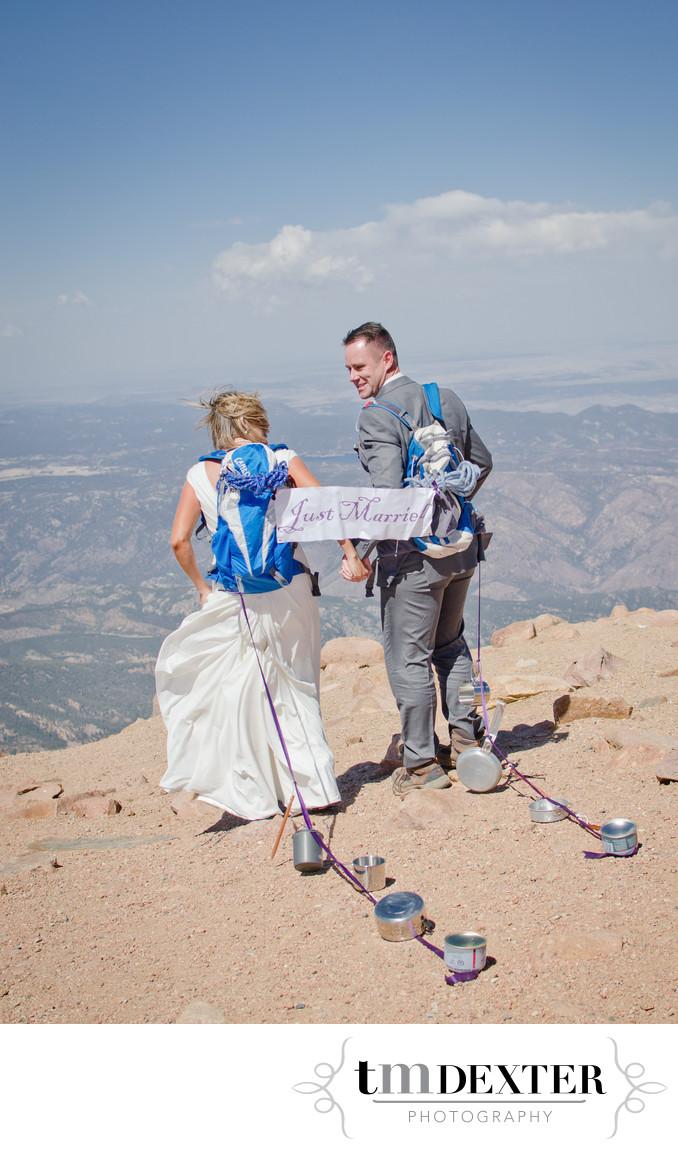 Pikes Peak Summit Wedding Photo