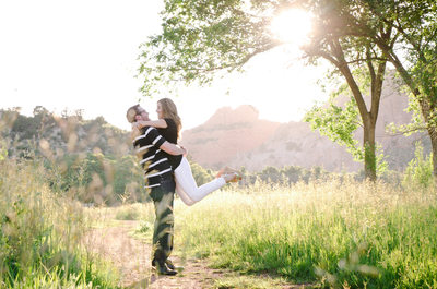 Rock Ledge Ranch Engagement Photo