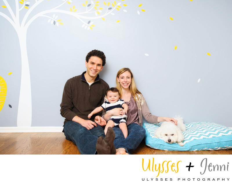 BEST PORTRAITS WITH BABY AND FAMILY DOG