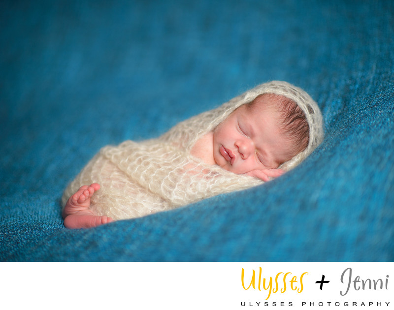 SNUGGLING NEWBORN BABY BOY PIC