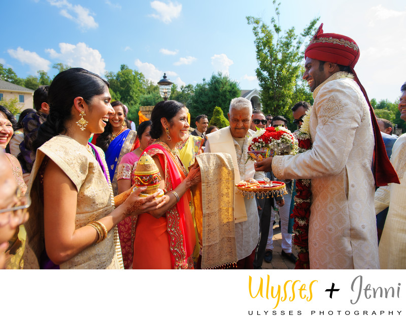 INDIAN WEDDING GROOM WITH BRIDES MOM - ULYSSES PHOTOGRAPHY