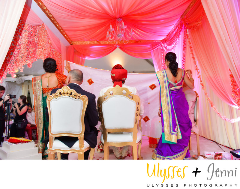 INDIAN WEDDING PINK LIGHTING - ULYSSES PHOTOGRAPHY