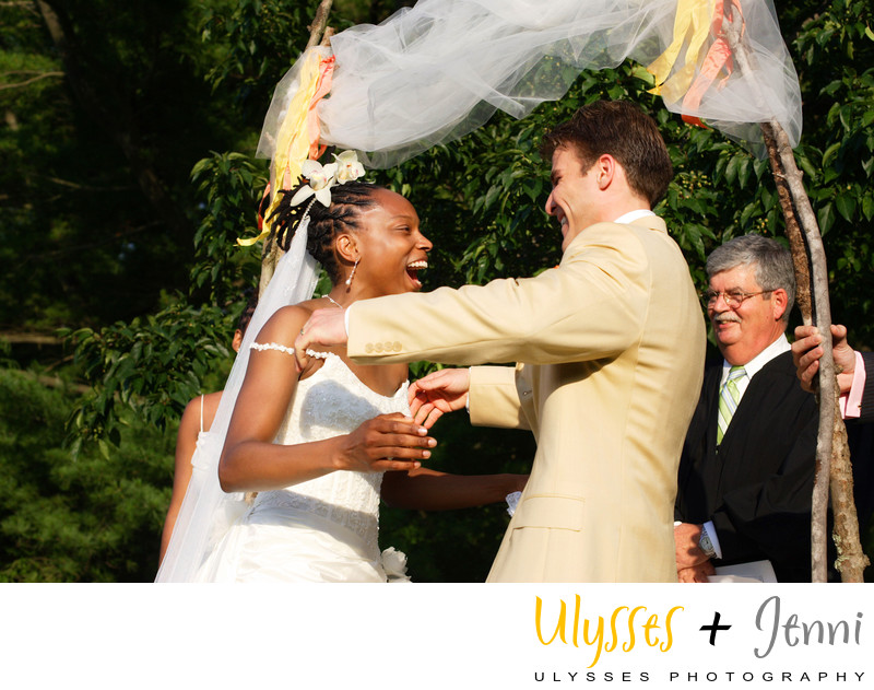 JOYOUS CEREMONY PHOTOS WESTCHESTER WEDDING