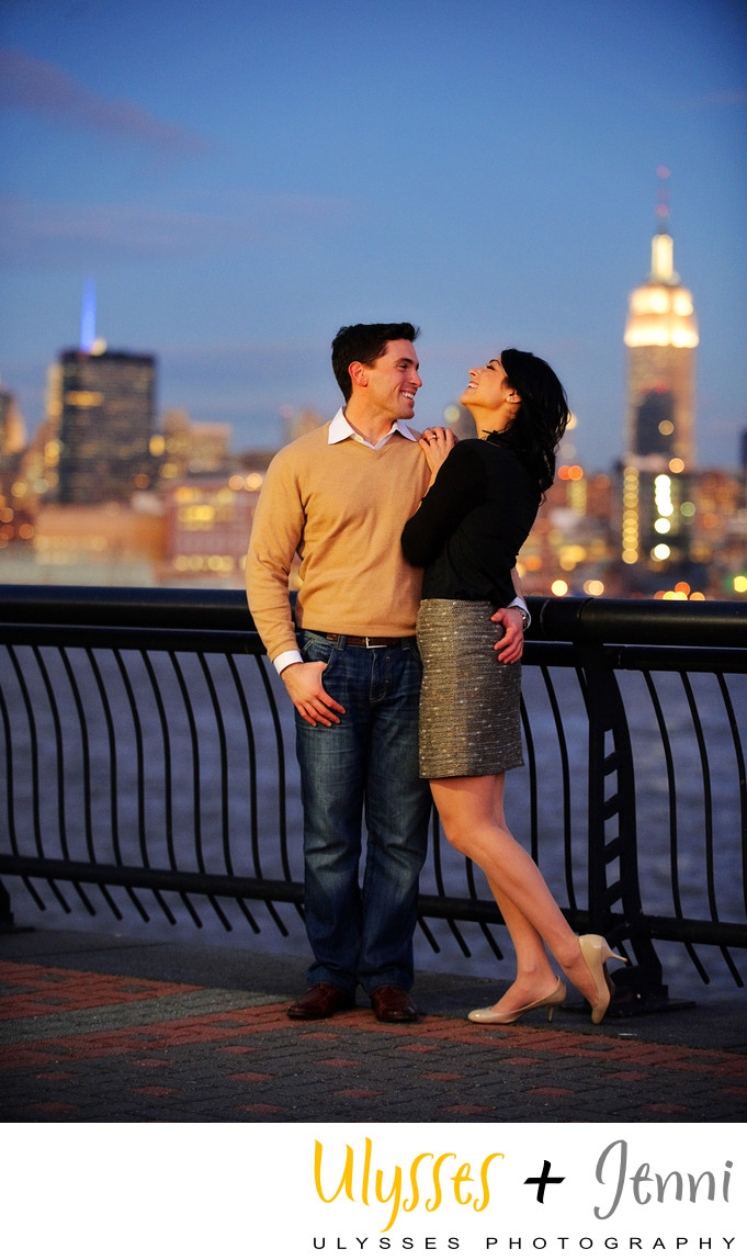 NJ WATERFRONT ENGAGEMENT PHOTOGRAPHY