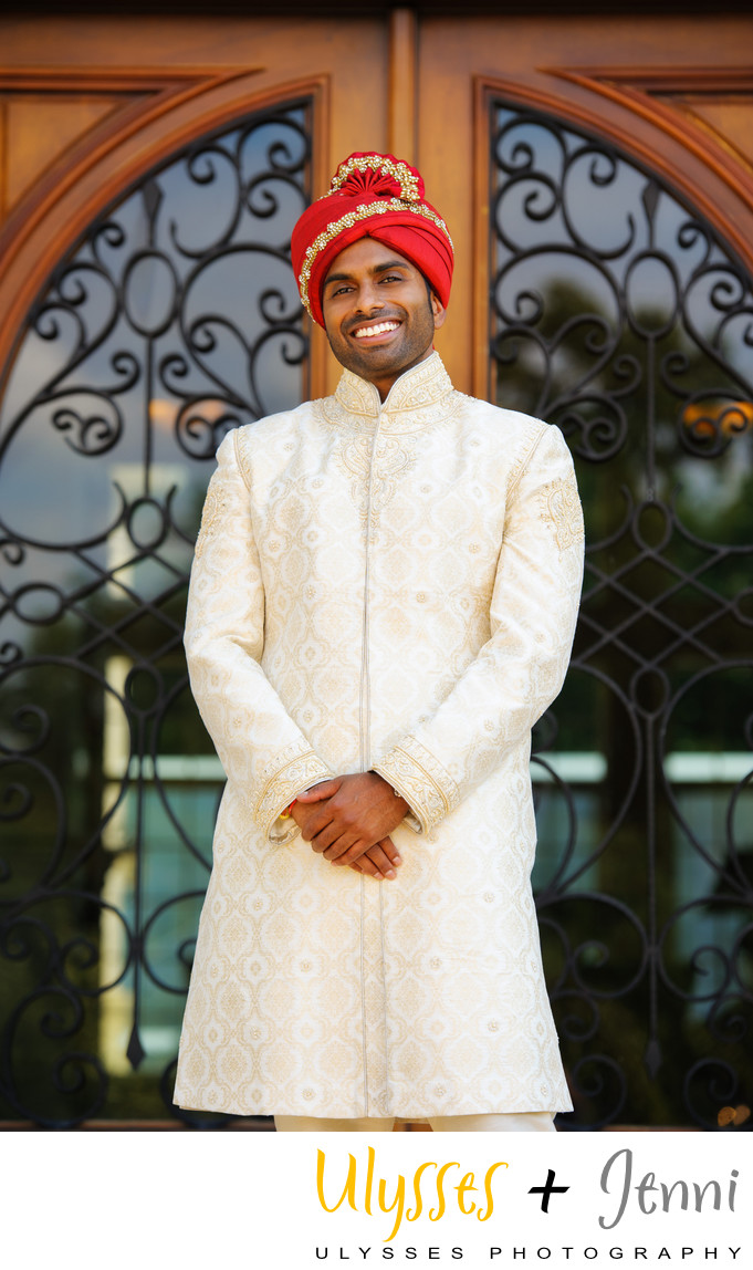INDIAN GROOM PORTRAIT  - ULYSSES PHOTOGRAPHY