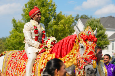 INDIAN GROOM ON HORSE - ULYSSES PHOTOGRAPHY