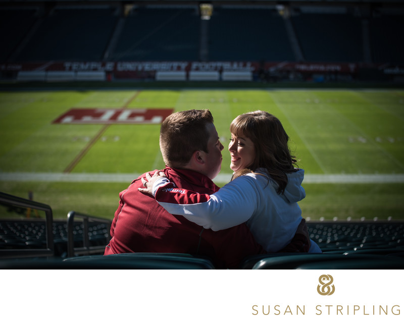 Lincoln Financial Field Engagement Photos.