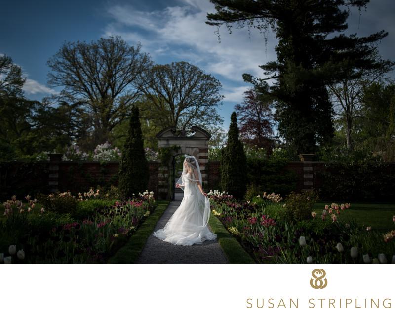 Old Westbury Gardens bridal portraits