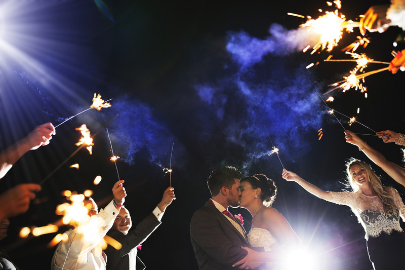 wedding photography sparkler shot norfolk