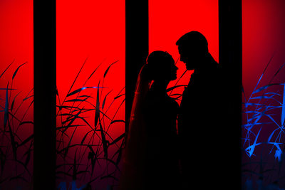 The boat house wedding norfolk silhouette