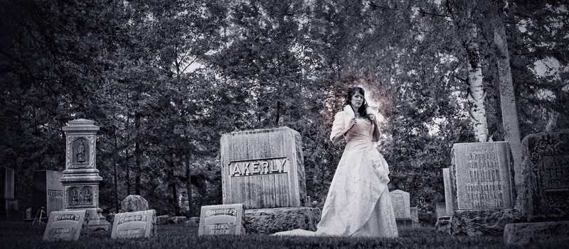 Bride Photos in Cemetery