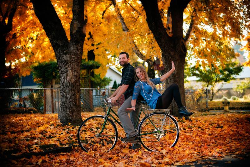 Fun Bicycle Engagement Photograph CDA