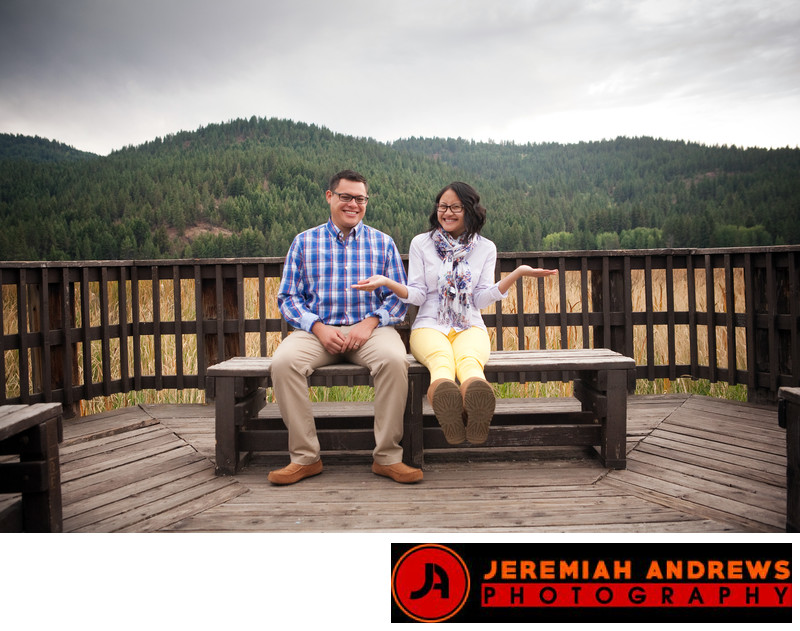 Outdoor Engagement Photos Liberty Lake Washington