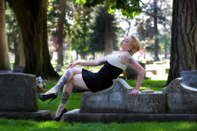 Boudoir Photography in Cda Cemetary