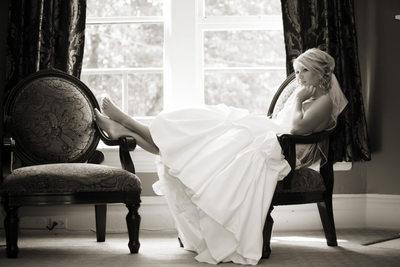 Bride at Glover Mansion Spokane Washington