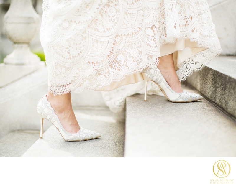Bridal Shoes Dress Wedding Photographer