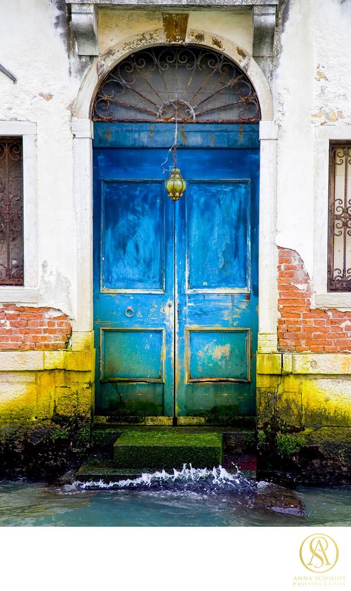 Venice Italy Cobalt Blue Door Photographer