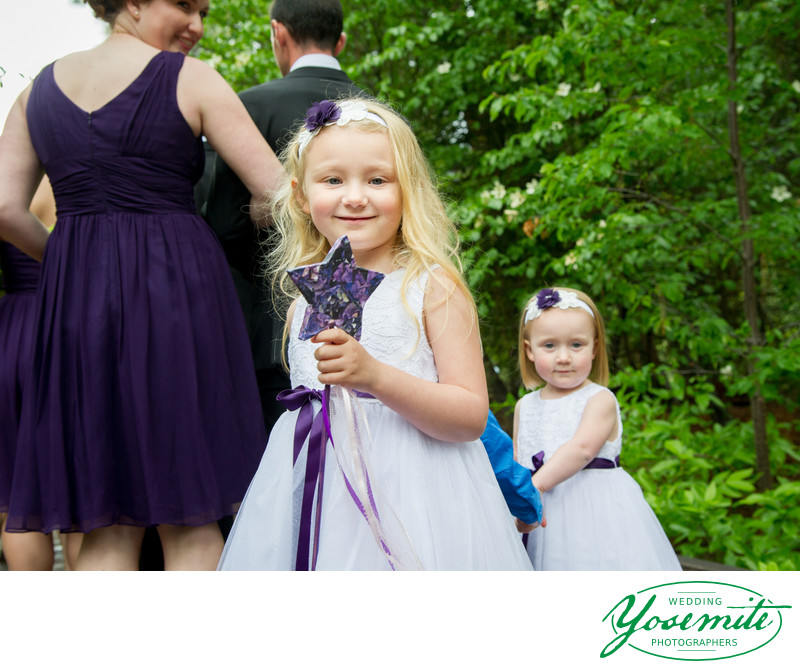 Adorable Flower Girls at Majestic Yosemite Hotel Wedding