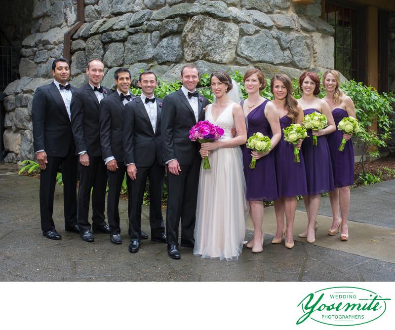 Wedding Party at Majestic Yosemite