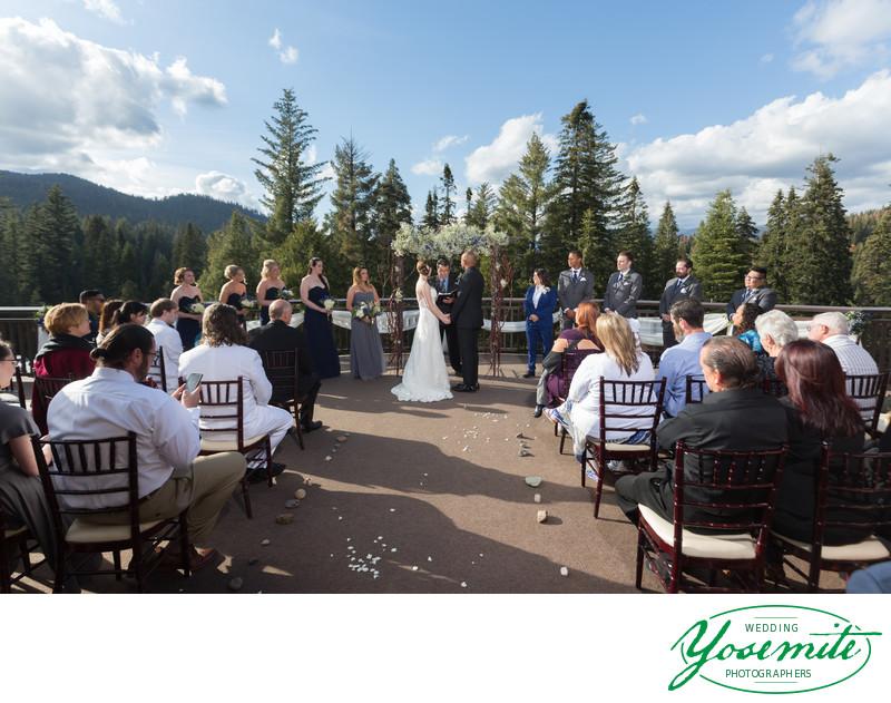 Wedding Ceremony On Balcony At Tenaya Lodge