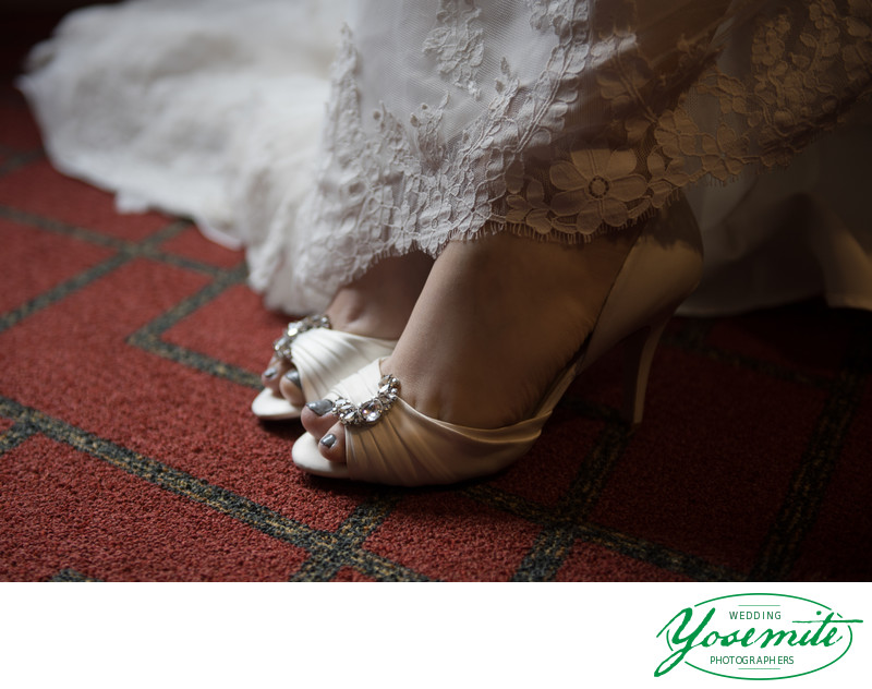 Bride's Wedding Shoes At Tenaya Lodge