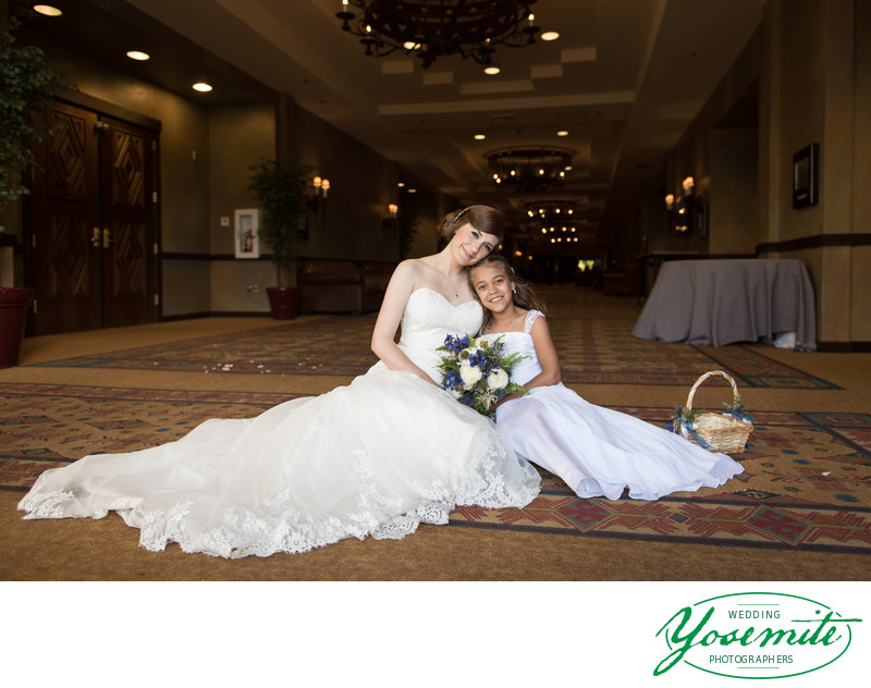 Bride and Flower Girl at Tenaya Lodge