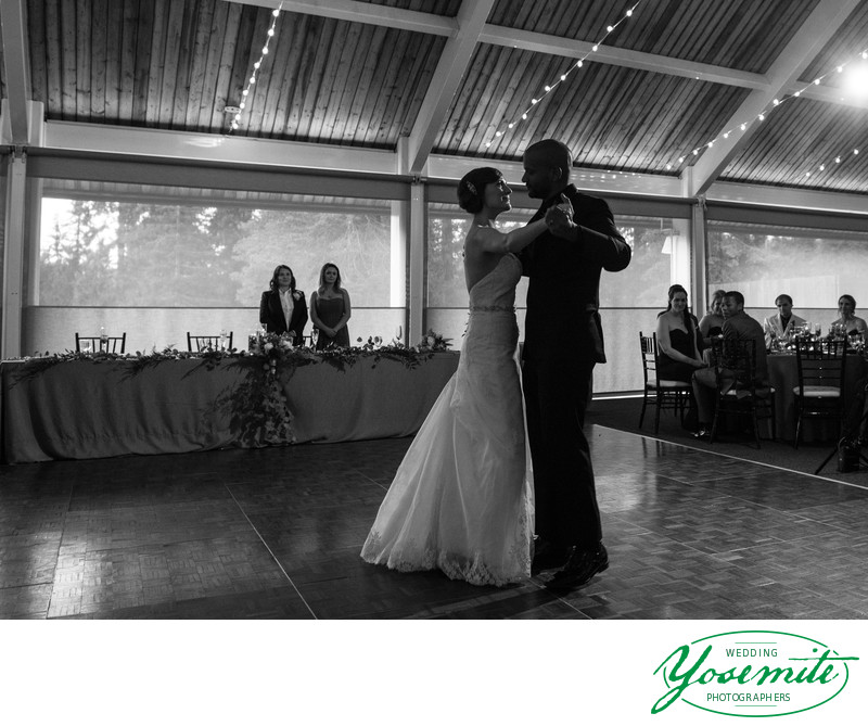 Bride And Groom's First Dance At Tenaya Lodge Wedding