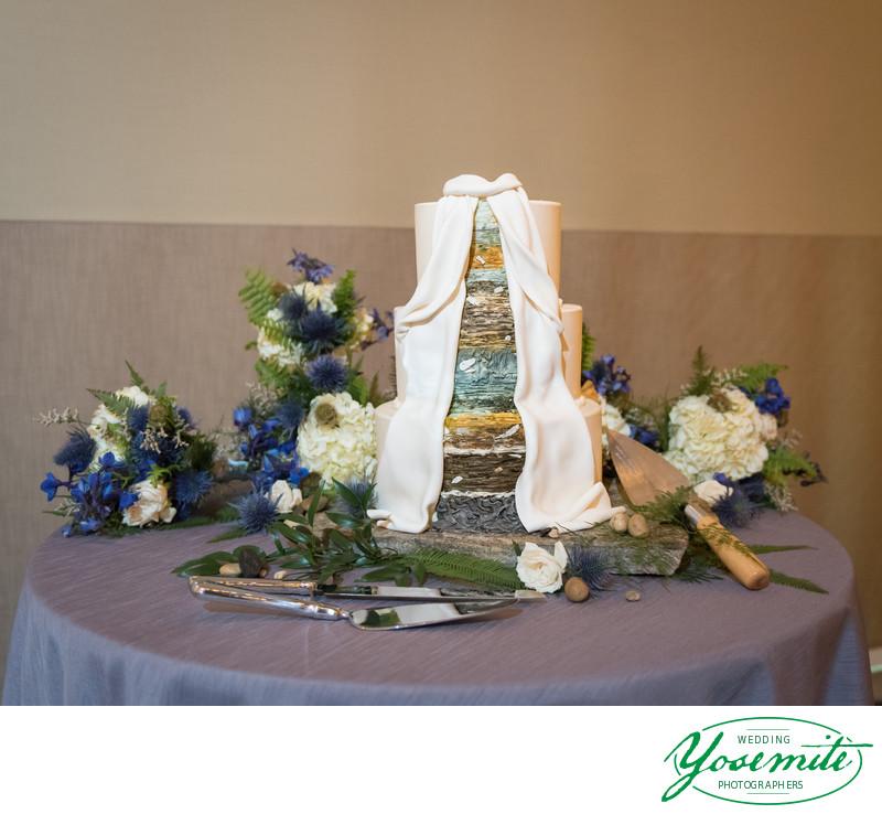 Unusual Archeologist's Wedding Cake At Tenaya Lodge