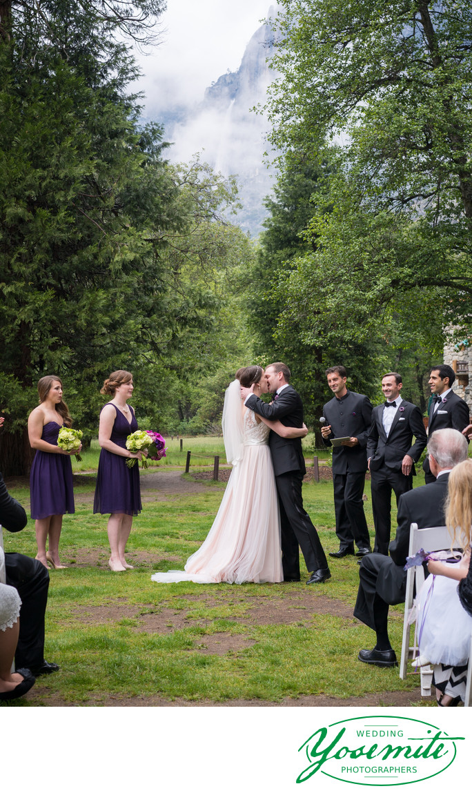 The Kiss During Ceremony At Majestic Yosemite Hotel