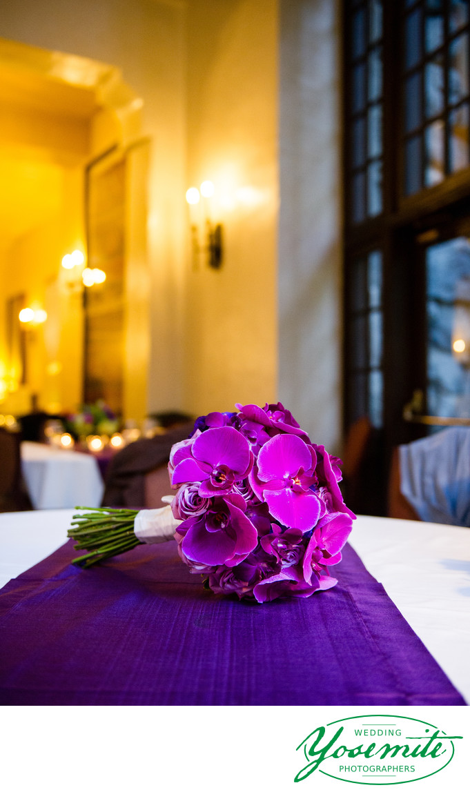 Purple Orchids Wedding Bouquet Majestic Yosemite Hotel