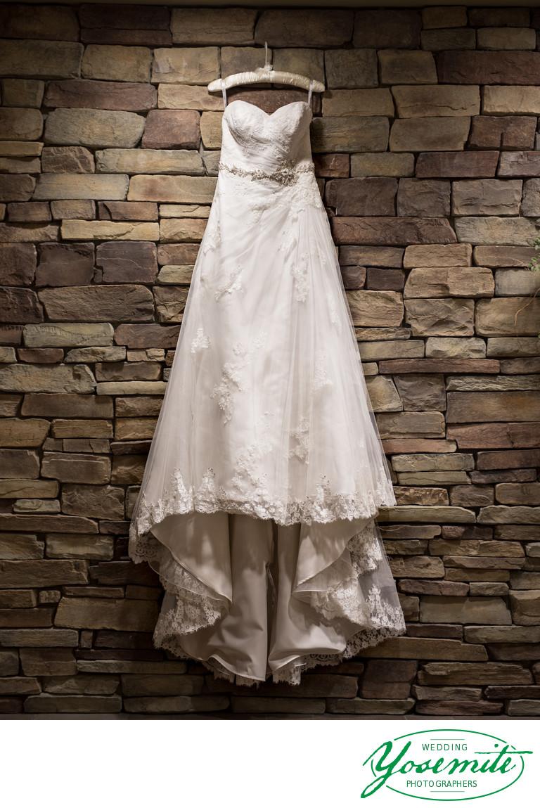 Wedding Dress at Tenaya Lodge Ascent Spa