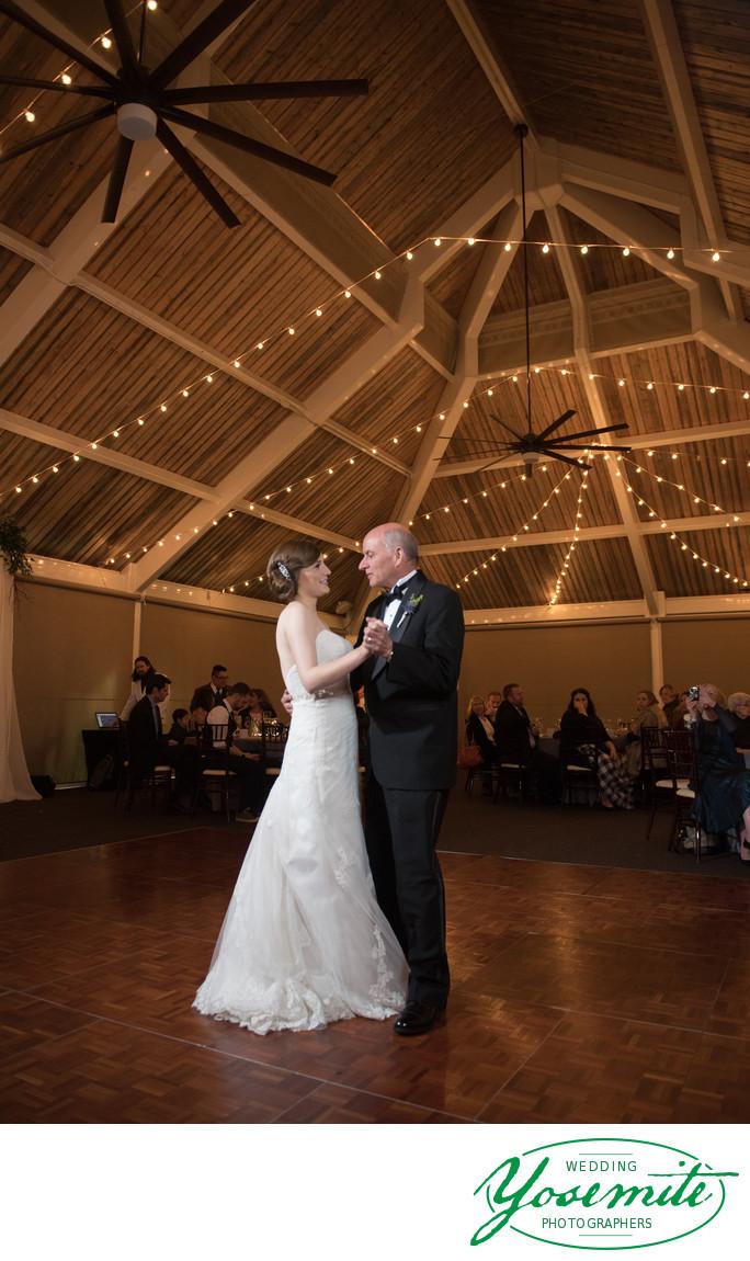 Father Dances With Bride at Tenaya Lodge Wedding