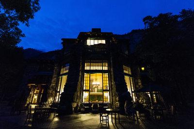 Beautiful Night Photo Majestic Yosemite Hotel Wedding