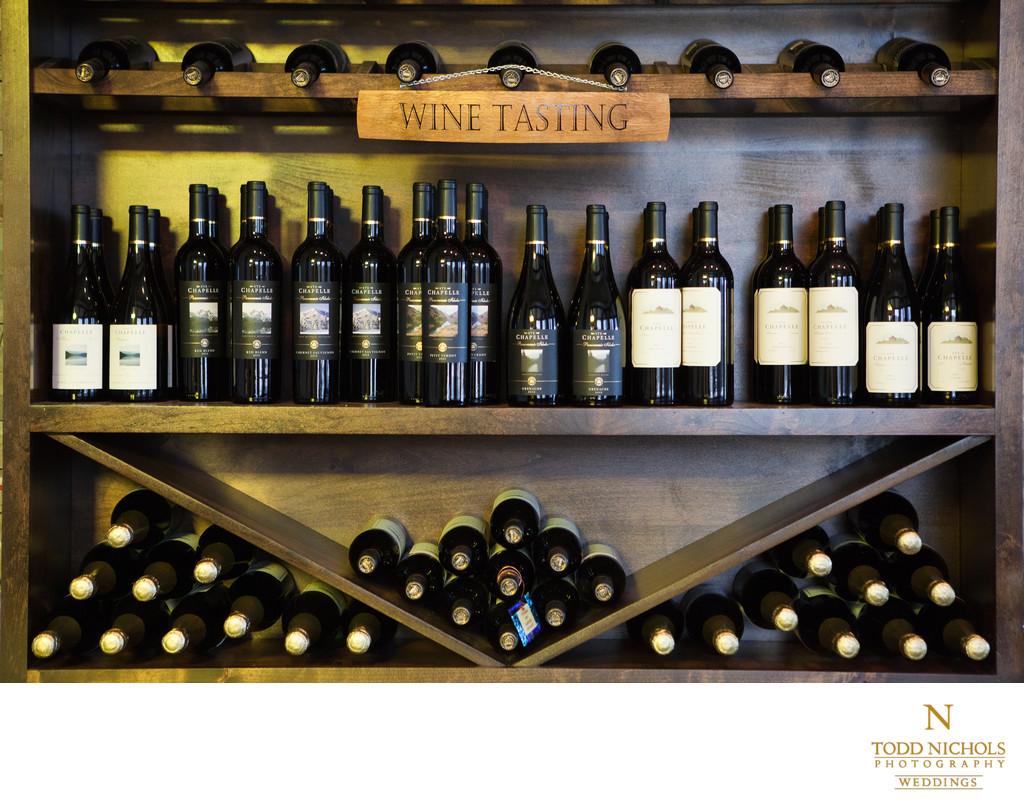 Wine Displayed In Rack