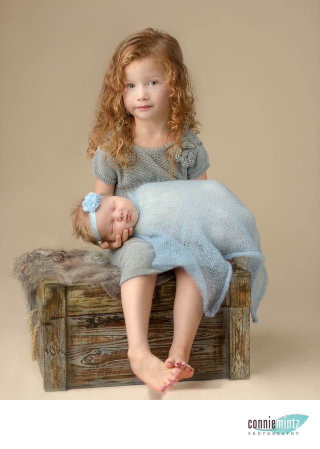 Four Year Old with Newborn Sister