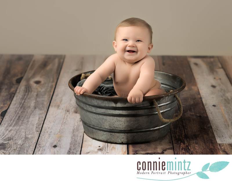 Baby Six Month Sitting Up Portraits
