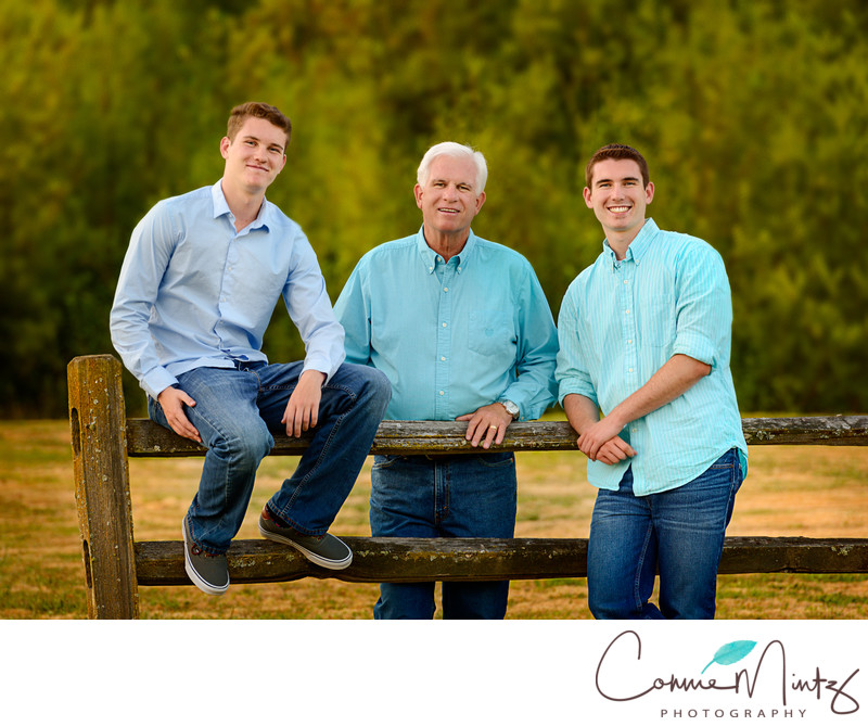 Family Photography- Father and Sons