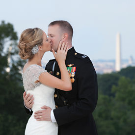 Wedding kiss overlooking the washington monument married wedding kiss overlooking the washington monument junglespirit Image collections