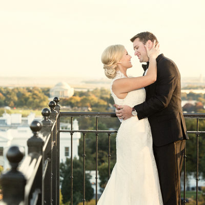 Hay Adams Hotel Wedding Picture overlooking White House