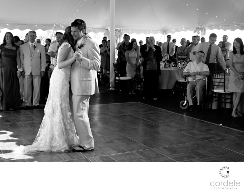 Seacoast Science center wedding photo