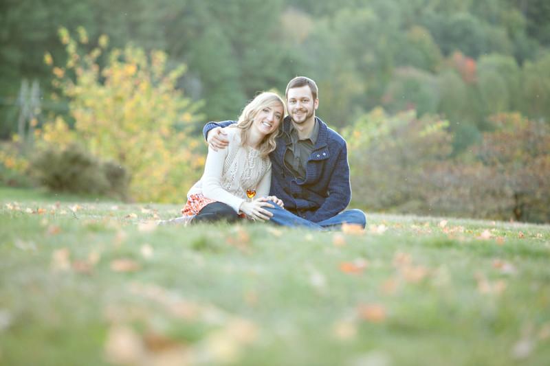 Massachusetts fall engagement photos