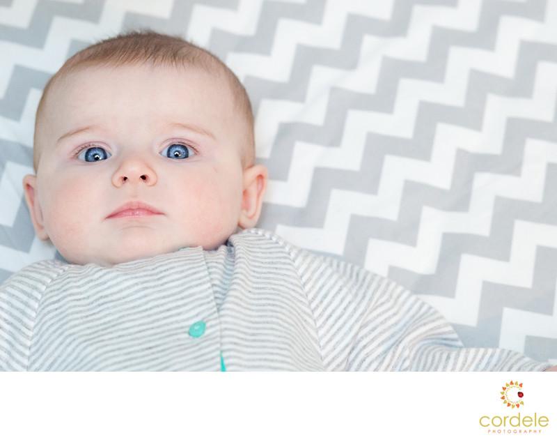six month baby portraits Norwood Massachusetts