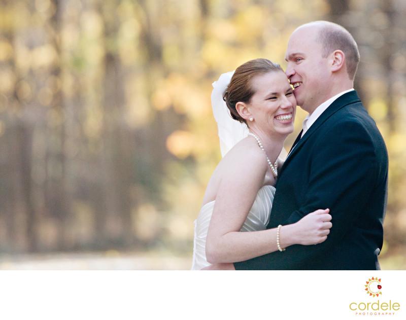 Fall wedding photos Boston