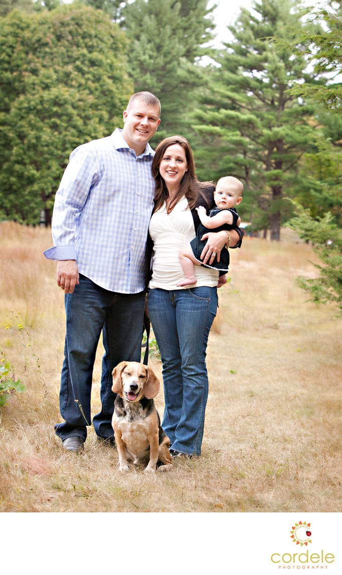 Family photo Bird Park Walpole ma