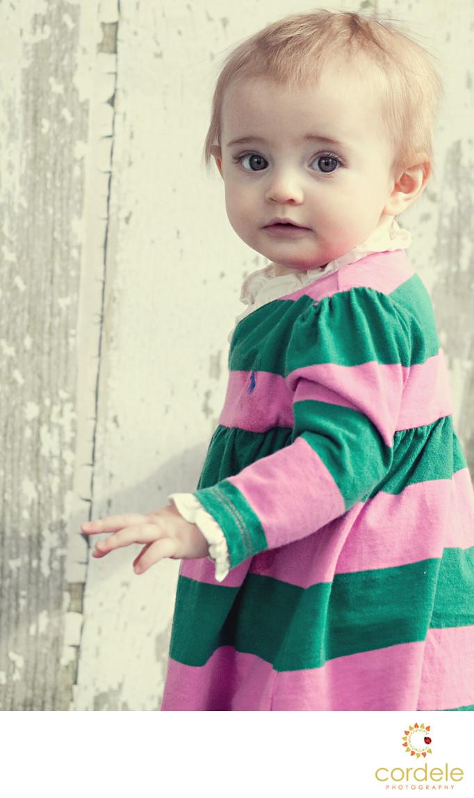Baby's first birthday portrait photographer