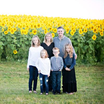 newbury sunflower patch family photos