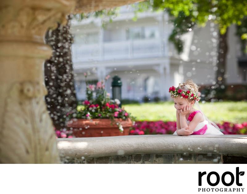 Flower girl at Disney's Grand Floridian resort