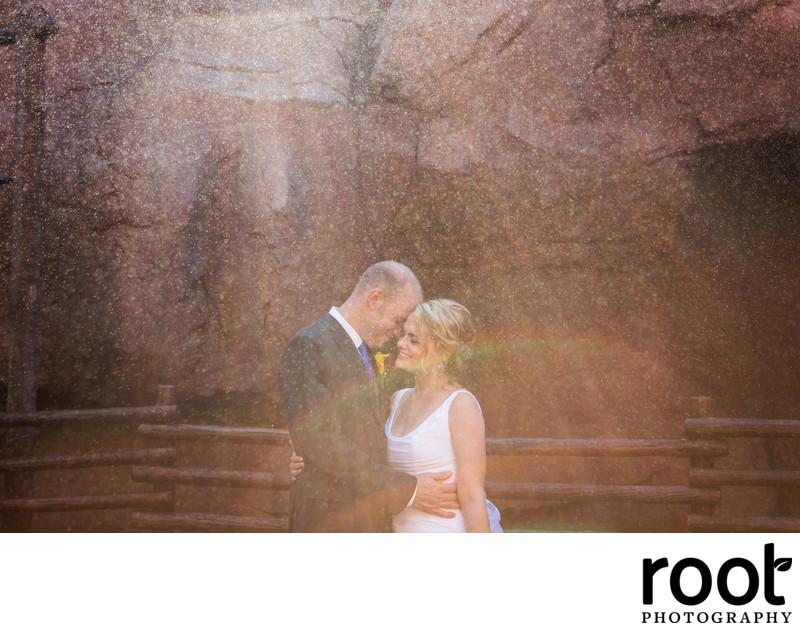 Wedding in Epcot Canada Pavilion