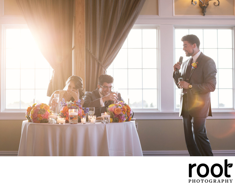 Wedding Toast at The Bonnett Island Estate