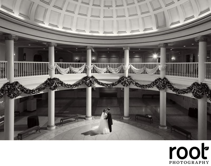Wedding at Epcot's American Adventure Rotunda